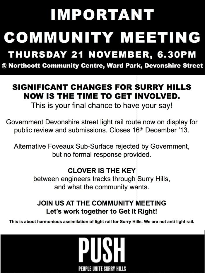 Community Meeting 21.11.13
